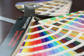 We use pantone books for getting your colours exactly right